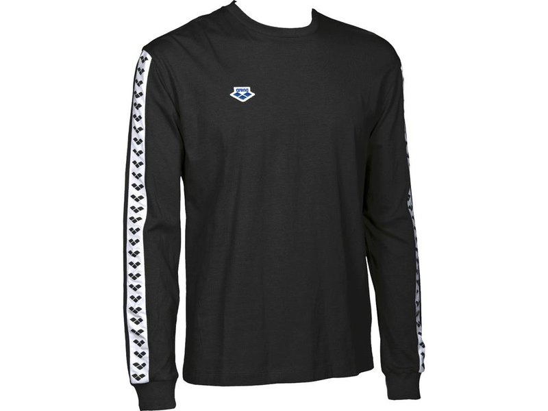 ARENA KOSZULKA LONG SLEEVE SHIRT TEAM ICONS  BLACK WHITE 001784501