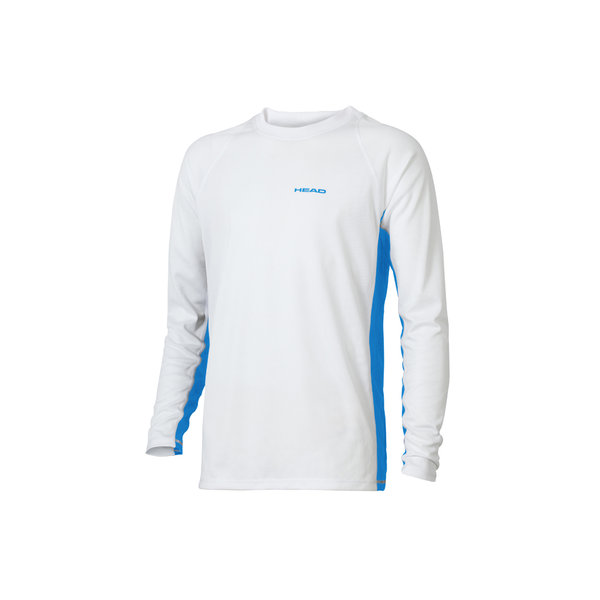 HEAD KOSZULKA DŁ.TEAM LONGSLEEVE SHIRT white/blue