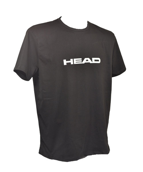 HEAD KOSZULKA SWIMMING TEAM T-SHIRT MAN BLACK