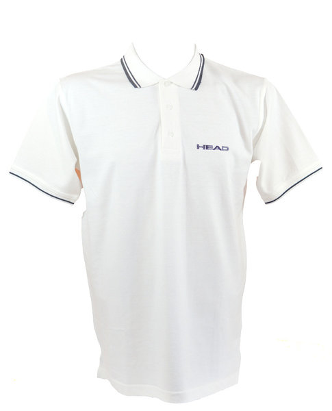 HEAD KOSZULKA SWIMMING TEAM POLO MAN WHITE