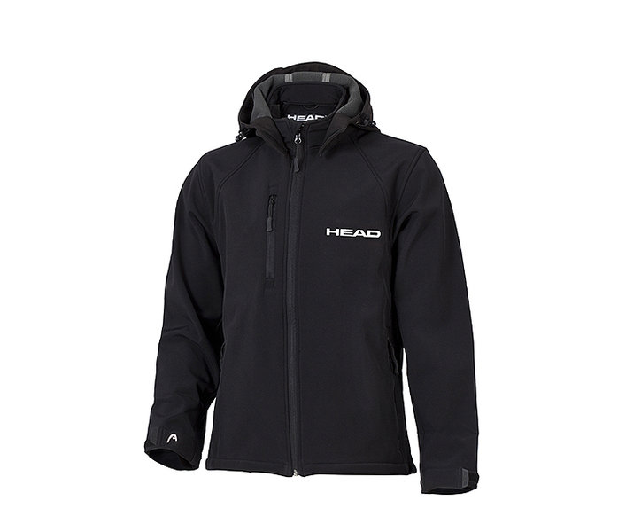 HEAD MĘSKA KURTKA  SOFT SHELL MAN  black