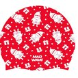 MAD WAVE CZEPEK SILICONE HAPPY NEW YEAR  RED M055931005W